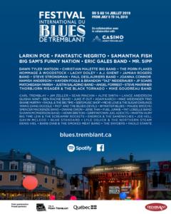 Tremblant International Blues Festival 2019