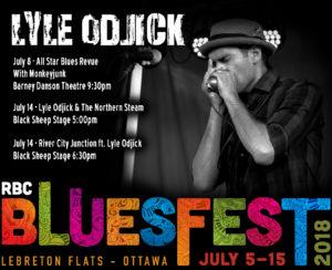 Lyle Odjick RBC Bluesfest 2018
